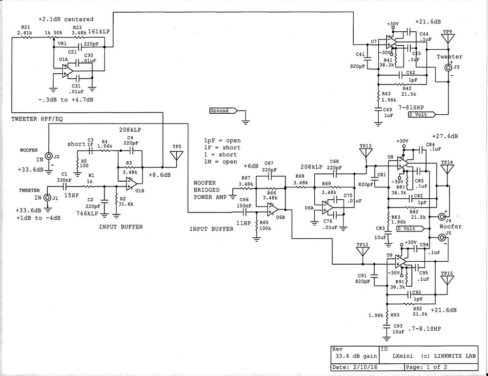 amp-1c Schematic Diagrams Behringer Protect Circut on